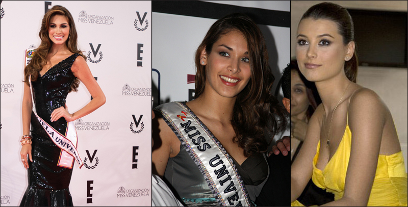 Countries with most beautiful women Venezuela María Gabriela Isler Miss Universe 2012 Stefania Fernandez Miss Universe 2009 Dayana Mendoza Miss Universe 2008