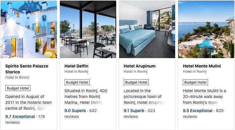 Budget Hotels in Rovinj