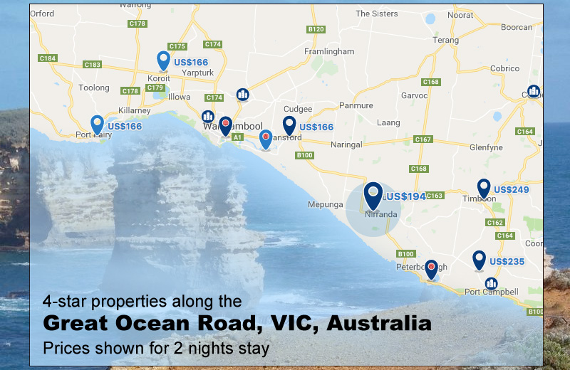 book a property at Great Ocean Road