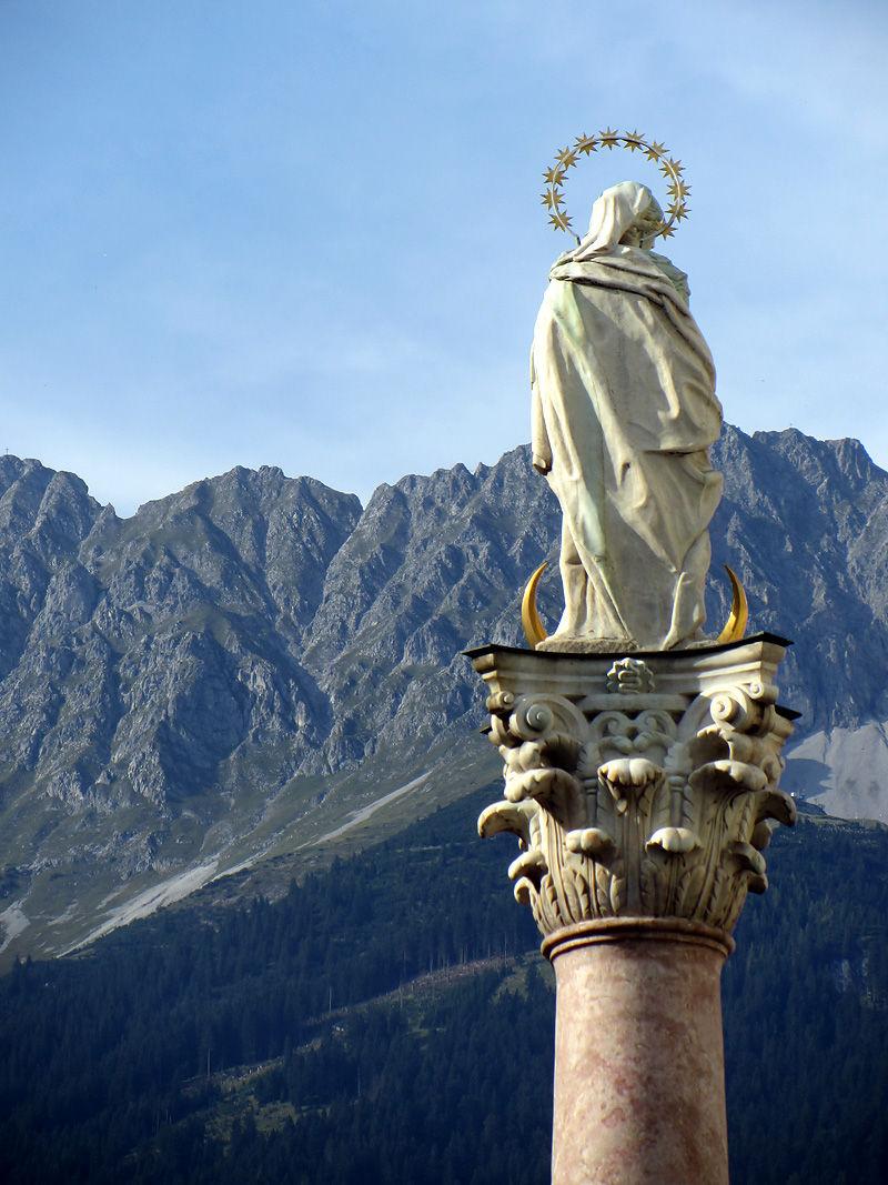 St Annes Column Maria Theresian Street Innsbruck