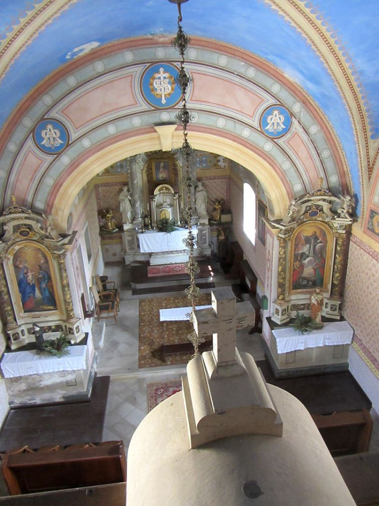 Inside lipica church