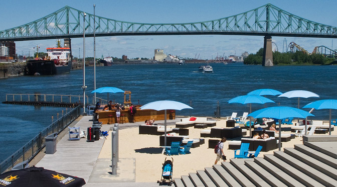 Urban Beaches: Place de l'Horloge Montreal