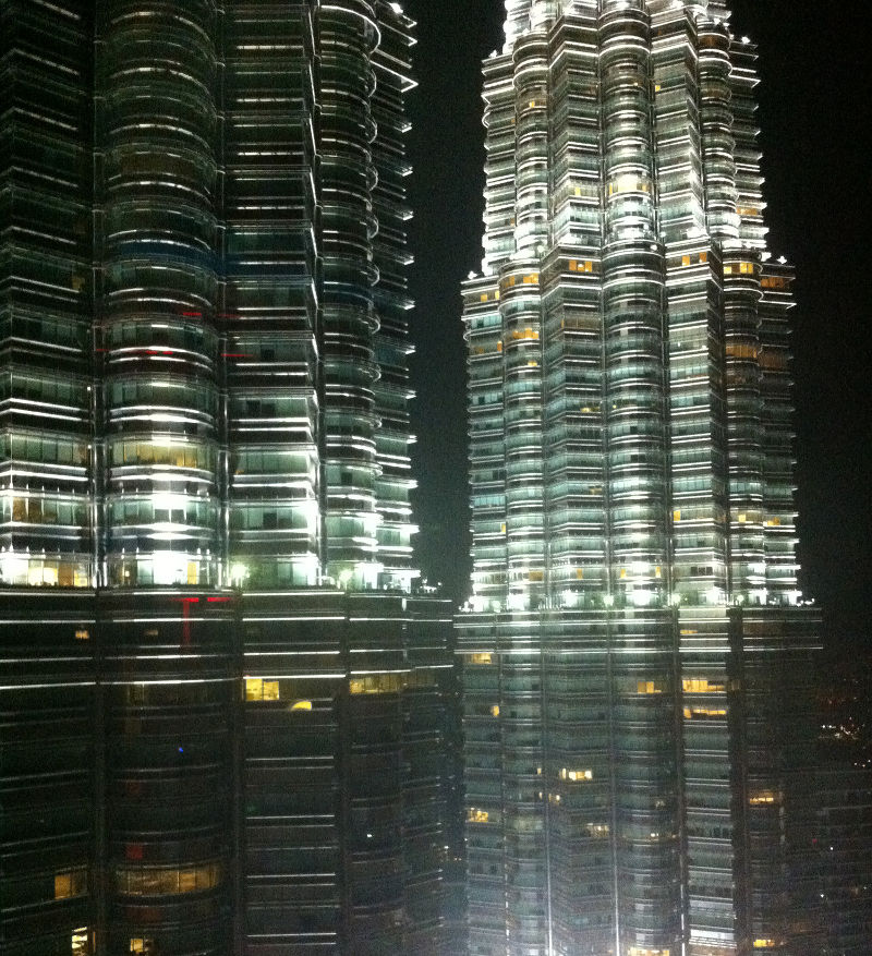 "View of Petronas Towers from ""Marini's on 57"""