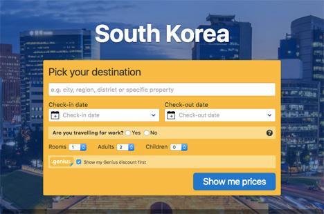 south korea booking com