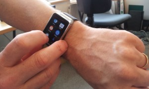 Mike Phillips and his smart watch