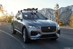 Jaguar F PACE on road 1