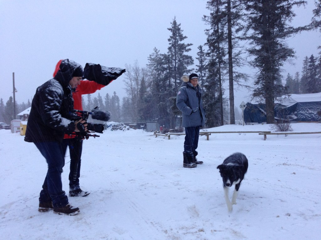 Shooting the internationally co-produced Fort McMoney in Canada