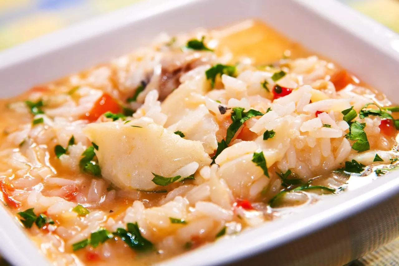 Resultado de imagem para receita deliciosa de risoto de bacalhau