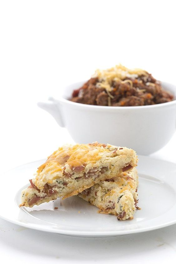 Grain-Free Low Carb Ham and Cheese Scones
