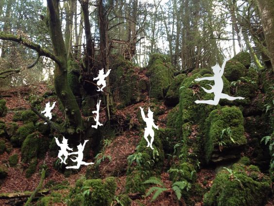 Puzzlewood, Forest of Dean, England. At Christmas time, 12 days of Christmas - 10 Lords-a-leaping.