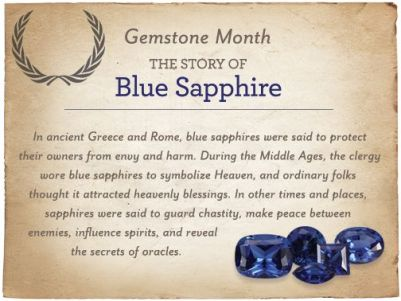 What's the story behind Blue Sapphire?  #gems #jewelry #bluesapphire #sapphire #royalty