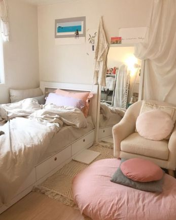 luar biasa dekorasi kamar tidur sederhana ala korea