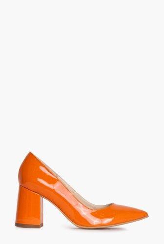 Pantofi cu toc patrat Y101 - Ama Fashion