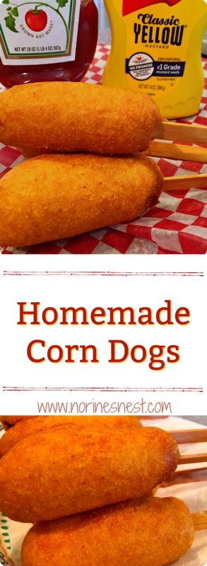 Easy to prepare corn dogs at home. Just like those at the fair. Both kids and grown-ups will like this hearty snack. So yummy!