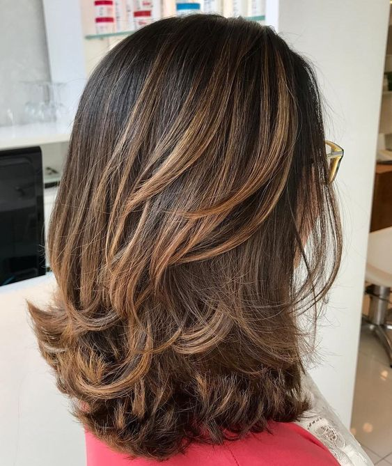 Shoulder Length Haircut with Flicked Ends
