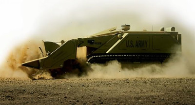 M160 MV4 robot negotiating a minefield in Afghanistan Photo: DOK-ING