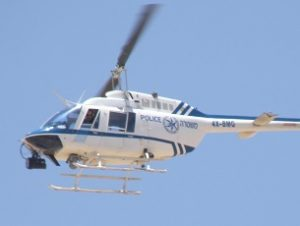 Police helicopter (Wikimedia Commons)