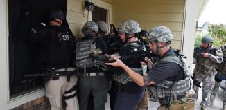 SWAT Team during one of the five steps