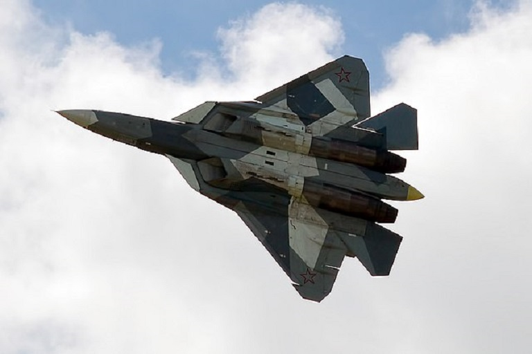 Russian Federation  tests new Su-57 stealth fighter over war-weary Syrian skies