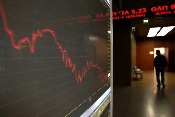 © Reuters. Greece stocks higher at close of trade; Athens General Composite up 0.64%