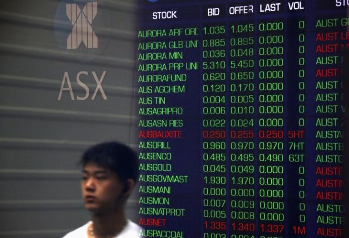 © Reuters. Australia stocks higher at close of trade; S&P/ASX 200 up 0.04%