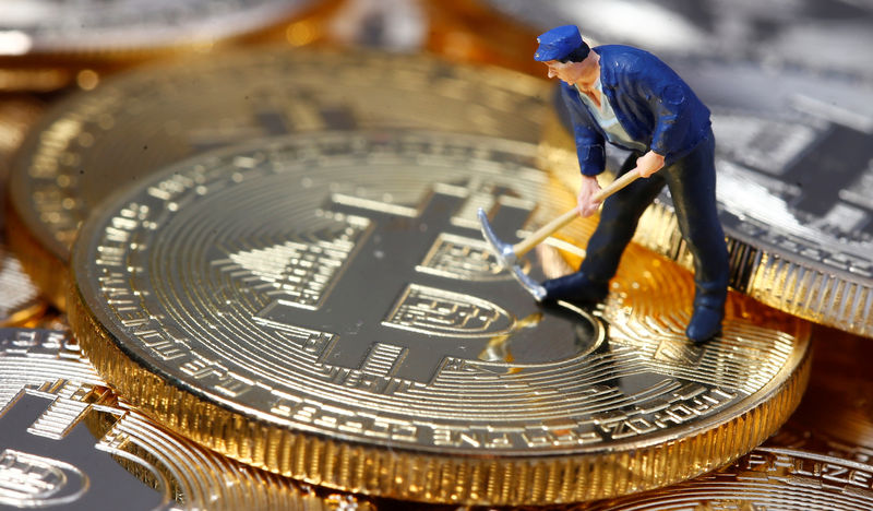 © Reuters.  Bitcoin fell on Wednesday.