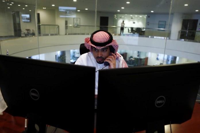 © Reuters. Saudi Arabia stocks lower at close of trade; Tadawul All Share down 1.59%