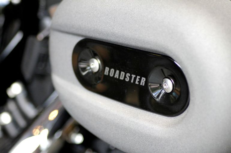 © Reuters. FILE PHOTO: The air cleaner of a Harley Davidson motorcycle is seen in Singapore
