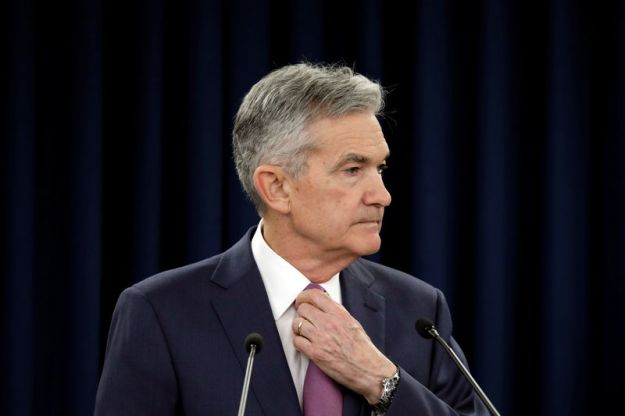 © Reuters. Federal Reserve Board Chairman Jerome Powell holds a news conference in Washington