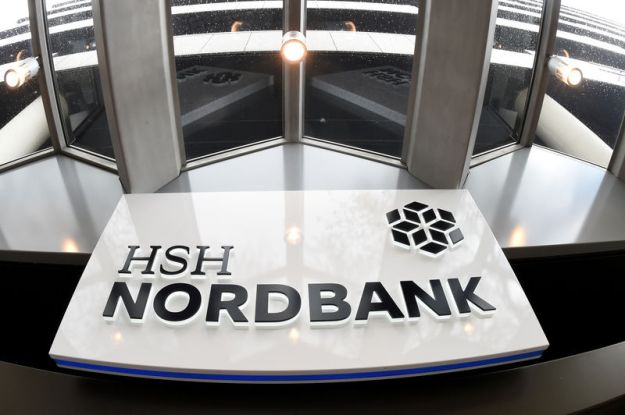© Reuters. FILE PHOTO: The logo of HSH Nordbank is seen in Hamburg