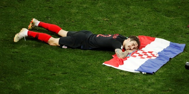 © Reuters. FILE PHOTO: World Cup - Semi Final - Croatia v England
