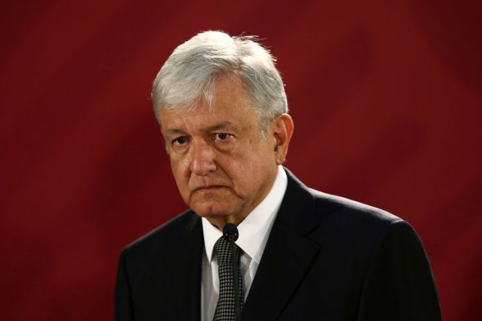 © Reuters. Mexico's new President Andres Manuel Lopez Obrador holds a news conference at National Palace in Mexico City