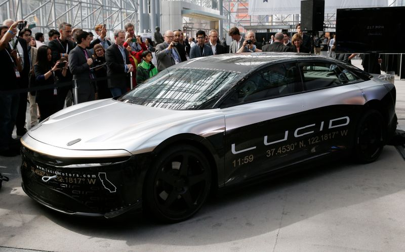 Luxury EV maker Lucid Motors to go public in $11.75 billion blank-check merger