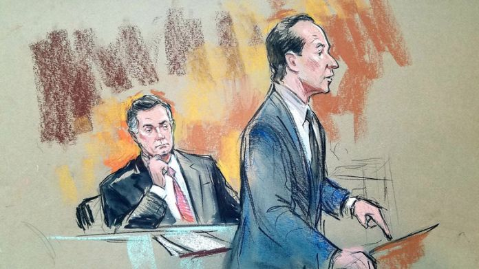 © Reuters. U.S. President Donald Trump's former campaign chairman Paul Manafort in Washington DC courtroom sketch.
