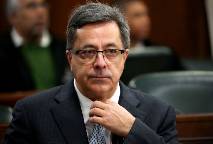© Reuters. FILE PHOTO - Steinhoff's former Chief Executive Markus Jooste appears in parliament to face a panel investigating an accounting scandal that rocked the retailer in Cape Town