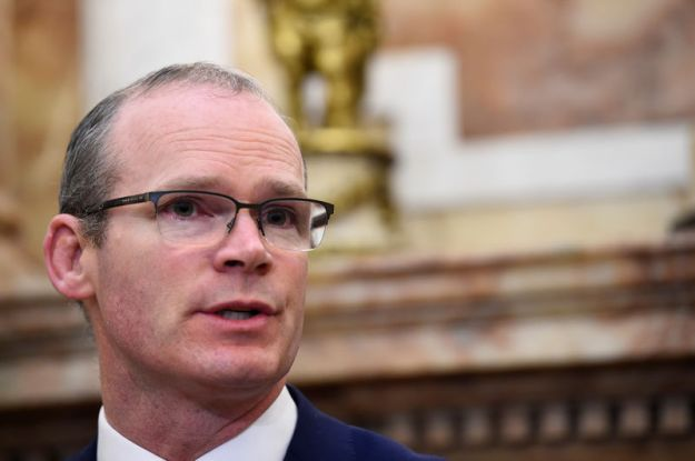 © Reuters. Ireland's Foreign Minister Simon Coveney speaks during a news conference in Dublin