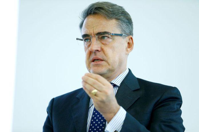 © Reuters. IATA Director General Alexandre de Juniac speaks during the Global Media Day in Geneva