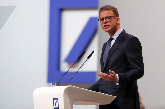 © -. CEO Sewing attends the annual shareholder meeting of Deutsche Bank in Frankfurt