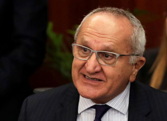 © -. FILE PHOTO: Mexico's Deputy Foreign Minister for North America, Jesus Seade reacts during the delivery of the United States-Mexico-Canada Agreement (USMCA) deal at the Senate building in Mexico City