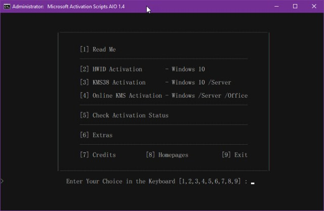 Microsoft Activation Scripts 1.4