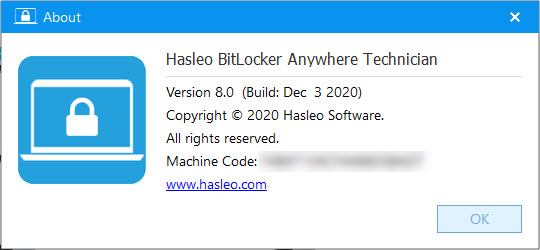 Hasleo BitLocker Anywhere 8.0