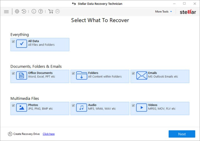 Stellar Data Recovery Pro and Technician 9.0