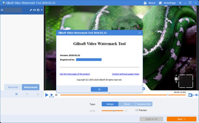 GiliSoft Video Watermark Tool 2020.02.22