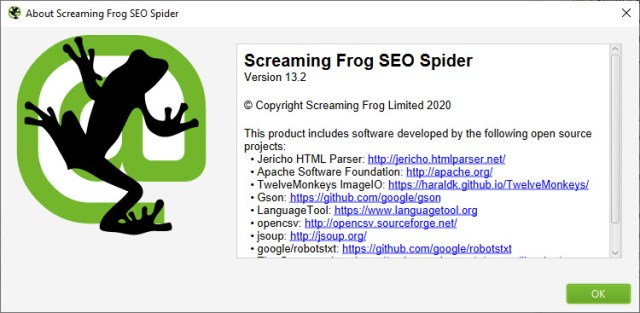 Screaming Frog SEO Spider 13.2