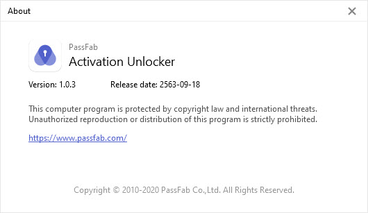 PassFab Activation Unlocker 1.0.3.0