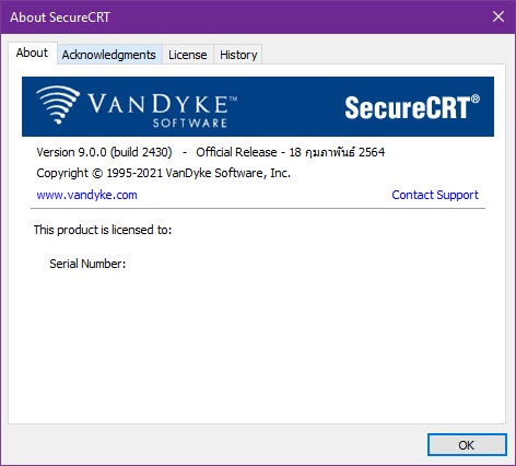 SecureCRT 9.0.0 Build 2430