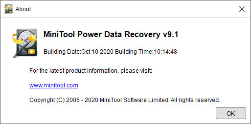 MiniTool Power Data Recovery Business Technician 9.1