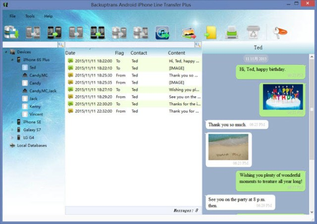 Backuptrans Android iPhone Line Transfer Plus 3.1.45