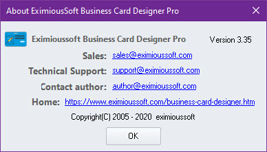 EximiousSoft Business Card Designer Pro 3.35