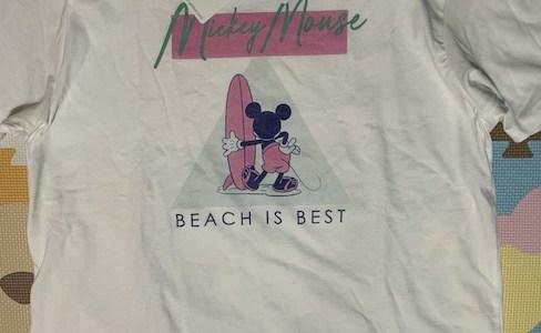 GUのディズニーTシャツが可愛い♪メンズのXLなら女性が着ても違和感ありません。